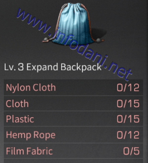 lv 3 expand backpack lifeafter