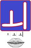 huruf vokal ganda we bahasa korea (hangeul)